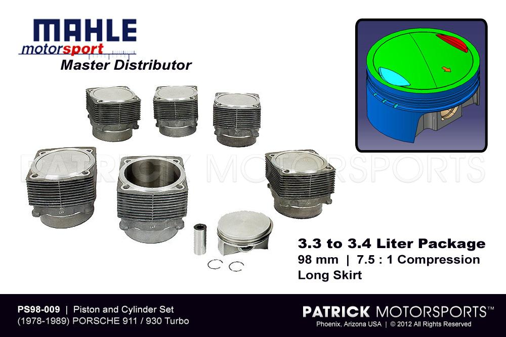 Mahle Piston and Cylinder Set - 930 Turbo - 3.3 to 3.4L Motorsport