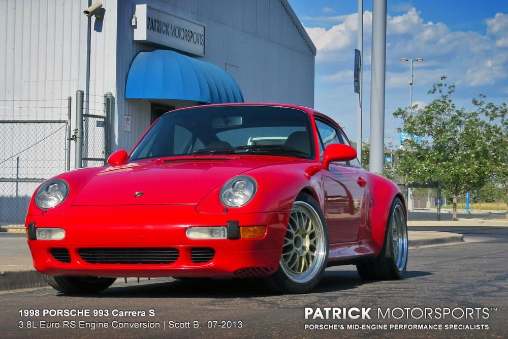 workshop projects by patrick motorsports porsche mid engine 1998 carrera 2 s 3 8l euro rs engine conversion
