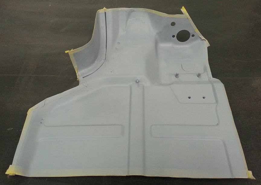 72 911 E Targa floor pan section