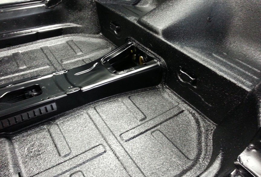 72 911 E Targa rear floor pan painted