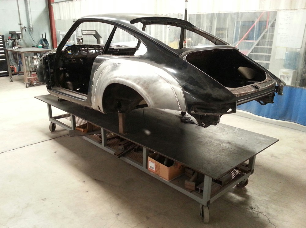 78 911 SC to ST rear qtr metal finished