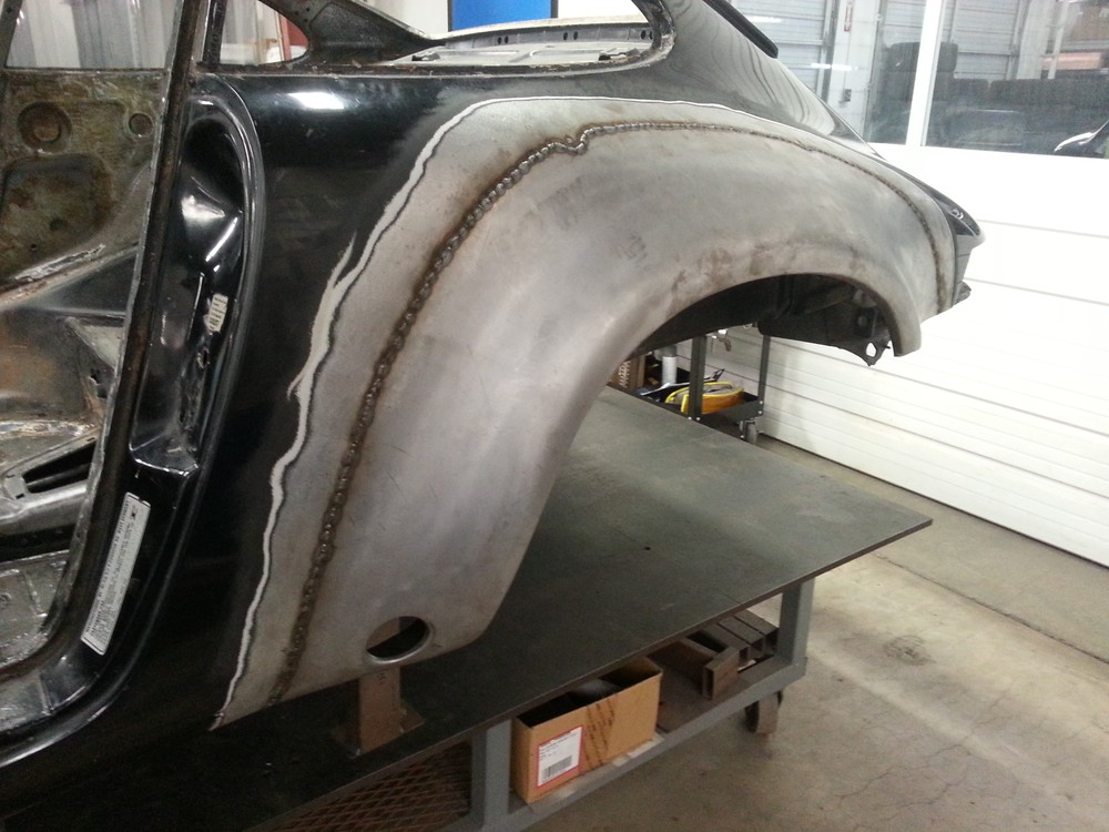 78 911 SC to ST rear qtr welded