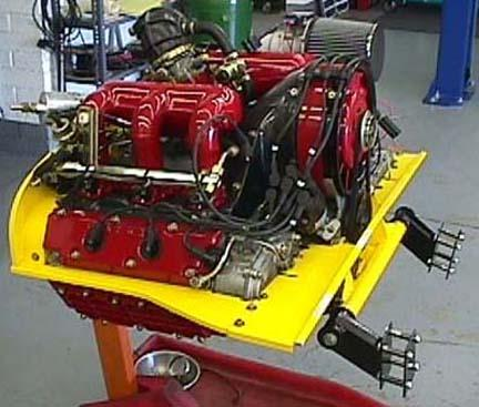 3.2L DME Engine with sheet metal and bolt in engine mount