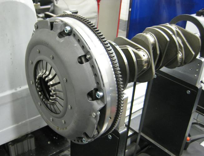 Here we are computer spin balancing the clutch pkg. to the aluminum flywheel