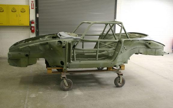 Speedster 993 RSR chassis in zink