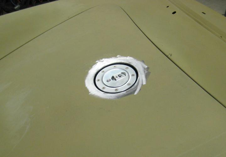 Casseire fuel filler detail