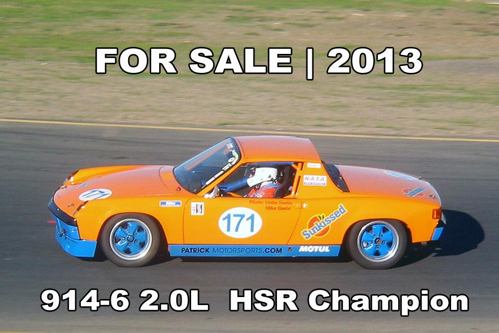 FOR SALE - Porsche 914-6 2.0L Race Car - HSR Champion